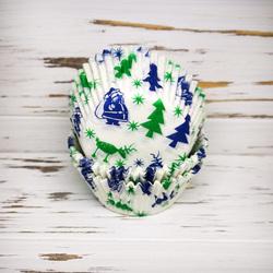 Форма для кексів Новий рік №10 50х30 50шт. (Новорічне свято)