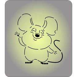 Трафарет + вырубка Мышка №69