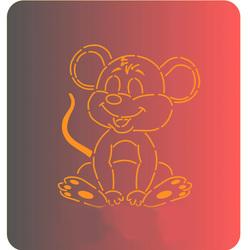 Трафарет + вырубка Мышка №3