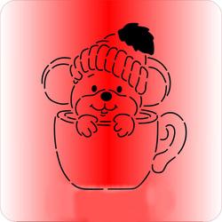 Трафарет + вирубка Мишка №4