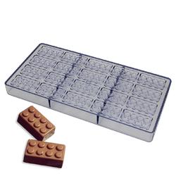 Поликарбонатная форма для конфет Лего 20 шт.