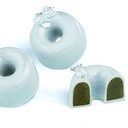 Полікарбонатна форма для цукерок Півсфера з отвором 21 шт.