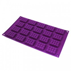 Форма силиконовая Плиточки шоколада (вафельки)  mini 20 ед