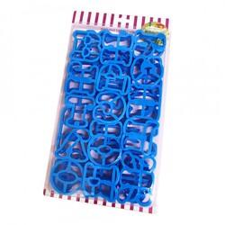 Вырубка алфавит 5 см русский пластиковый