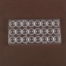 Полікарбонатна форма для цукерок Півсфера №2 (3 см) 24 шт.