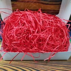 Наполнитель для коробок бумажный красный