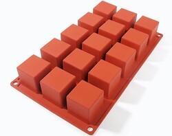 Форма силиконовая на планшетке Квадратики 15 ед.