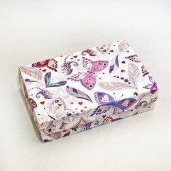 Коробка для еклеров, зефіру, печива та інших десертів 230 * 150 * 60 мм Метелики