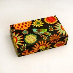 Коробка для еклеров, зефіру, печива та інших десертів 230 * 150 * 60 мм Розпис