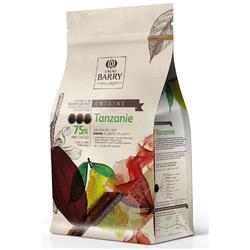 Шоколад экстра чёрный Cacao Barry Tanzanie, 75% - 1 кг оригинальная упаковка (CHD-Q75TAZ-E1-U68)