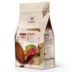 Шоколад молочный Cacao Barry Ghana 40 % - 1 кг оригинальная упаковка (CHM-P40GHA-E1-U68)
