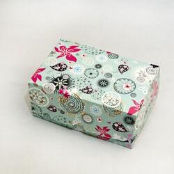 """Коробка-контейнер для тортов, чизкейков, пирожных """"Абстракция голубая"""" 180*120*80  мм"""