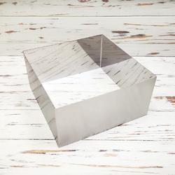Форма для торта Квадрат 20х20 см высота 10см металл