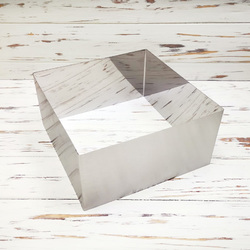 Форма для торта Квадрат 22х22 см высота 10см металл
