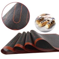 Коврик силиконовый перфорированный с разметкой для эклеров 30х40 см