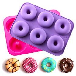 Форма силиконовая на планшетке Пончики из 6 ед. №2