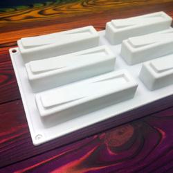 Форма силиконовая для евродесертов Libra из 6 ед