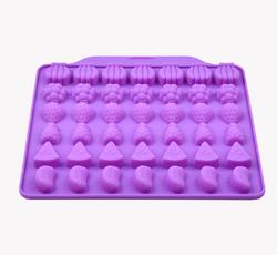 Форма силіконова для цукерок, льоду Фрукти асорті з 42 од на планшетці