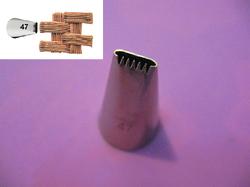 Насадка кондитерська кошик №47 (30 мм, 17х9 мм)