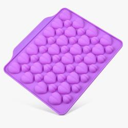 Форма силиконовая для конфет, льда Сердечки ассорти из 52 ед на планшетке.