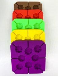Форма силиконовая для конфет Цветы ассорти из 8 ед.