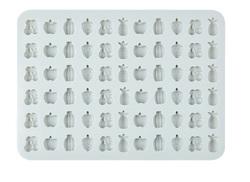 Форма силіконова для цукерок, льоду Фрукти асорті з 66 од на планшетці.