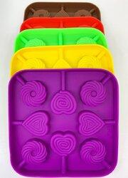 Форма силиконовая для конфет Сердце,Круг из 8 ед.