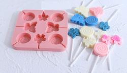 Форма силіконова для цукерок Метелики, квіти з 8 од.