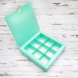 Коробка для цукерок 153х153х30 на 9 штук Тіффані