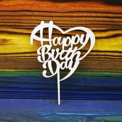 Топпер Happy Birthday №4 11х11 см