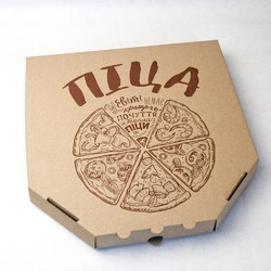 Коробка для піци 300х300х37 мм Бура