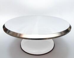 Подставка крутящейся для работы с тортом 300*150мм №3 (Белая)