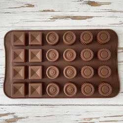 Форма силіконова для цукерок, льоду Асорті №2 на планшетці