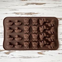 Форма силіконова для цукерок, льоду Асорті №3 на планшетці