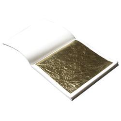 Сусальное пищевое золото листовое, 10 листов 90х90 мм