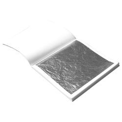 Сусальное серебро, 10 листов 91,5х91,5 мм
