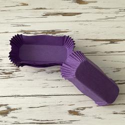 Форма прямоугольня для эклеров, пирожных - пурпурная 100х35х30 50шт.