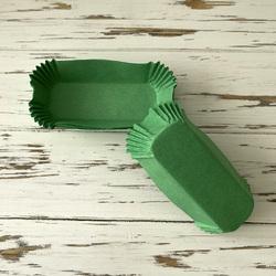 Форма прямоугольня для эклеров, пирожных - зеленая 100х35х30 50шт.