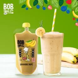 Пюре пастеризоване ТМ Bob Snail, Банан 400 г.