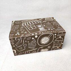 """Коробка-контейнер для тортів, чізкейків, тістечок """"Кавова"""" 180 * 120 * 80мм"""