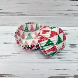 Форма для цукерок Ялинка червоно-зелена 30х24 50шт.