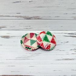 Форма для цукерок Ялинка №2 червоно-зелена 30х9,5 50шт.