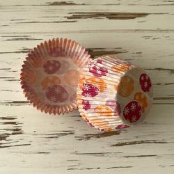 Форма бумажная для кексов Пасхальный орнамент №1 50х30 50 шт(оранжево-розовый)