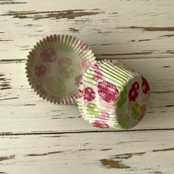 Форма бумажная для кексов Пасхальный орнамент №2 50х30 50 шт(розово-салатовый)