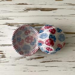 Форма бумажная для кексов Пасхальный орнамент №3 50х30 50 шт(сине-розовый)