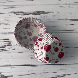 Форма паперова для кексів Яблука 50х30 50 шт (червоно-зелені)