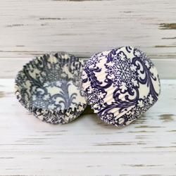 Форма бумажная для кексов Новый год №1 50х30 50 шт(фиолетовый)