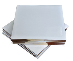 Поднос квадратный 25х25 см бел/зол