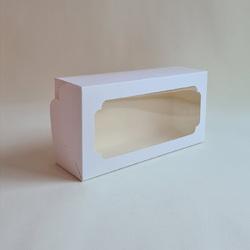 Коробка для кекса, штоллена 150х300х90 мм белая