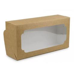 Коробка для кекса, штоллена 150х300х90 мм крафт